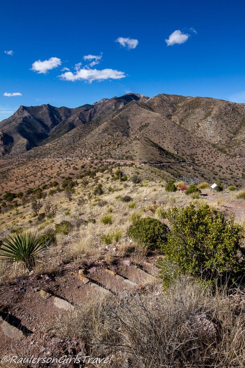 View from Coronado Peak down to Montezuma Pass Overlook