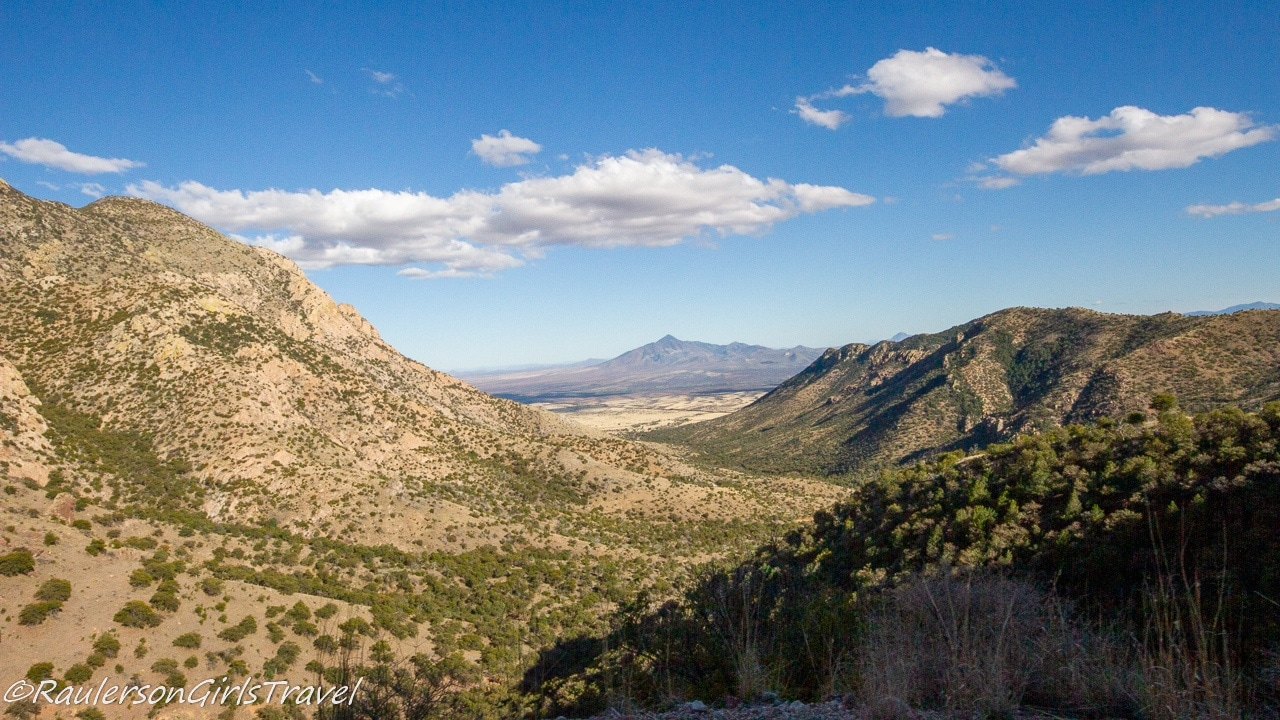 View of the Montezuma Canyon at Coronado National Memorial