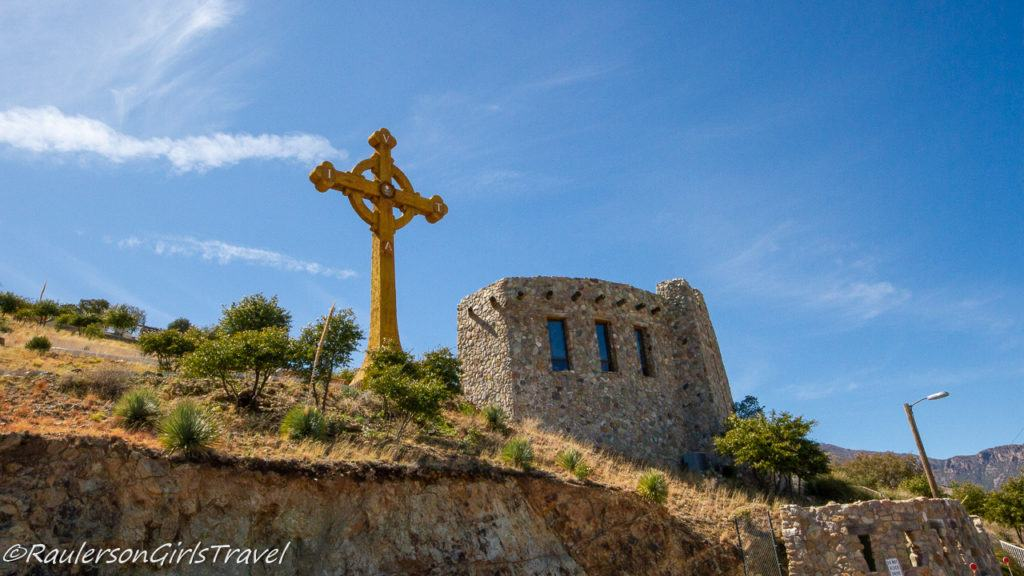 The Chapel and the Large Celtic Cross at Our Lady of the Sierras