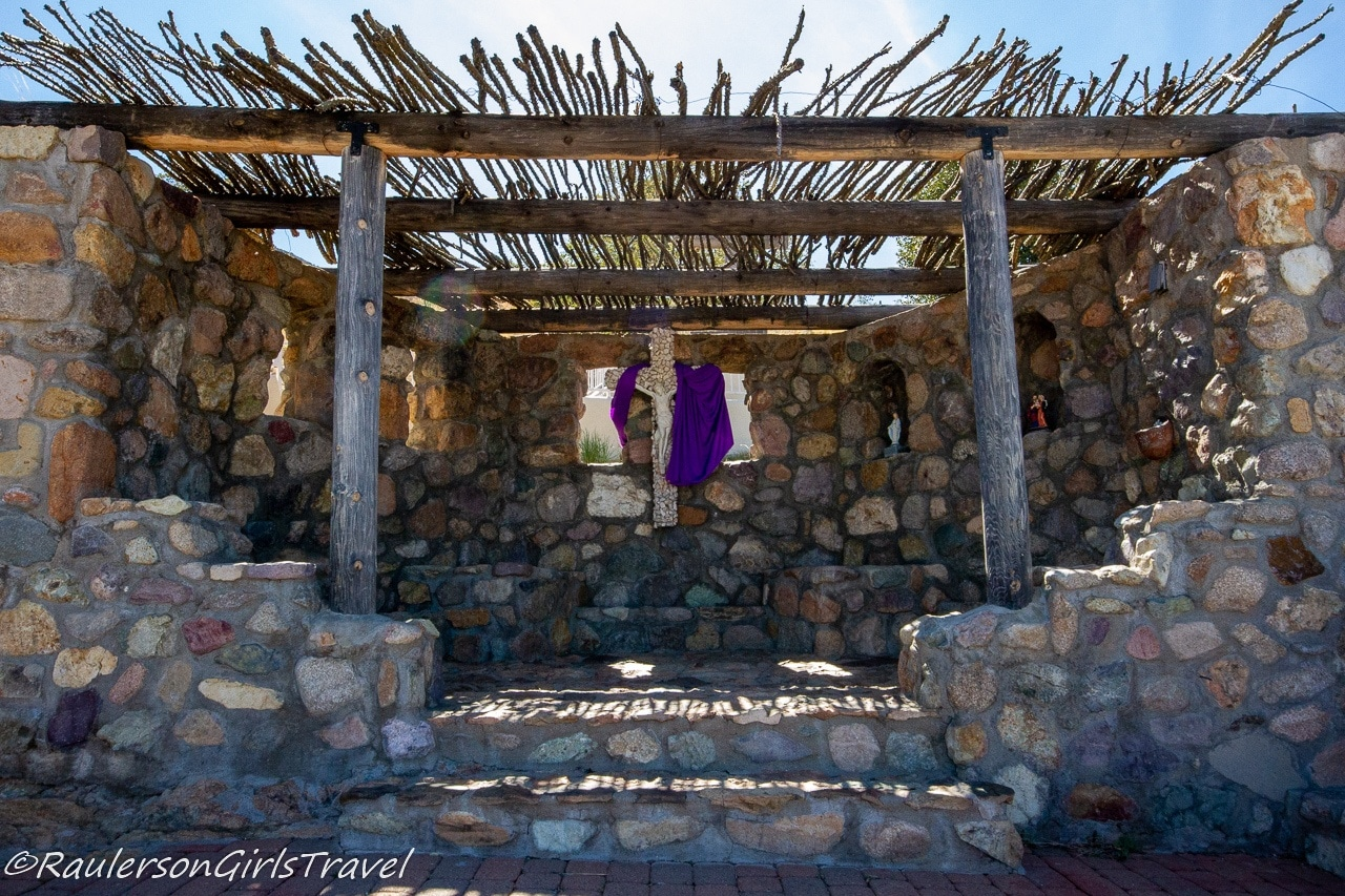 Upper Grotto: Christmas Manger Scene at Our Lady of the Sierras