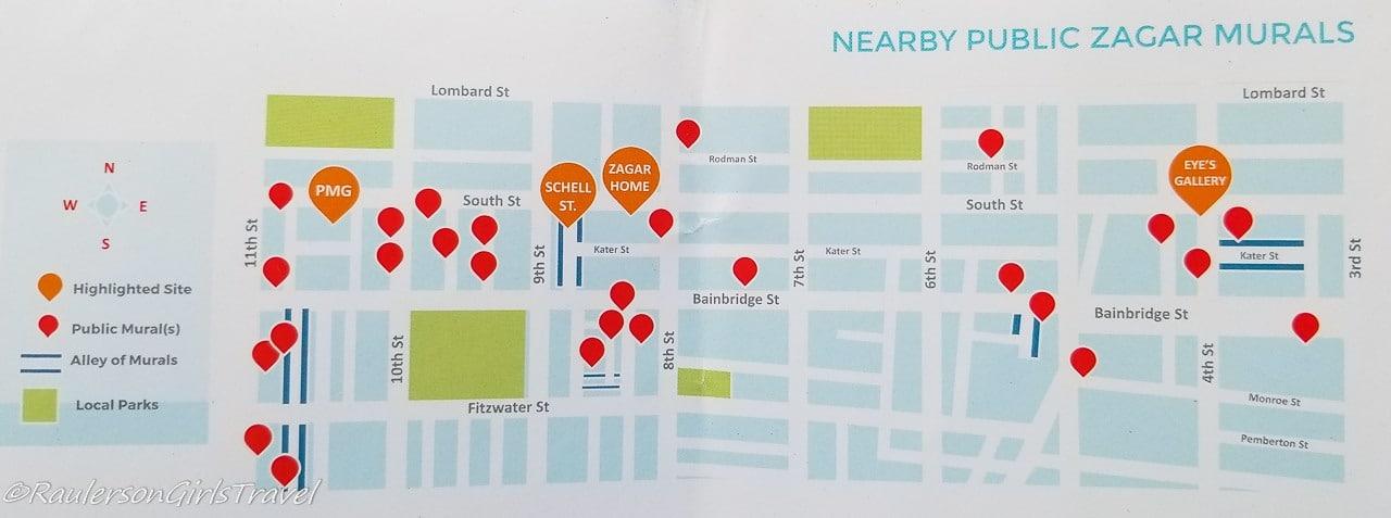 Isaiah Zagar Art installations around Philadelphia Map