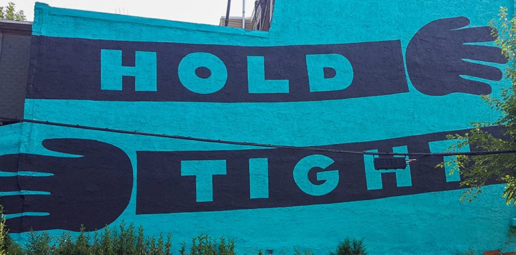 Hold Tight Love Letter Street Art in Philly
