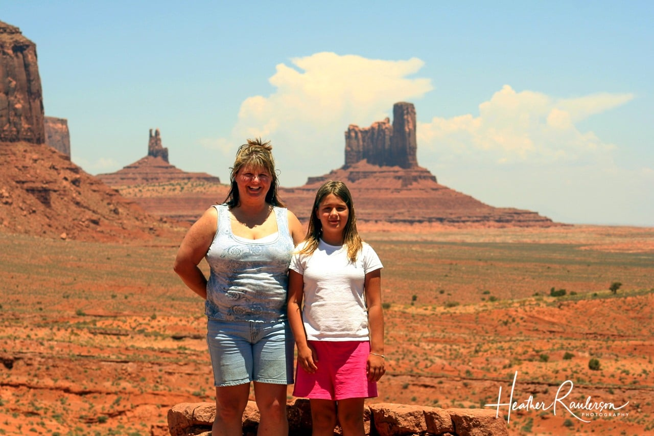 Heather and Kayla in Monument Valley