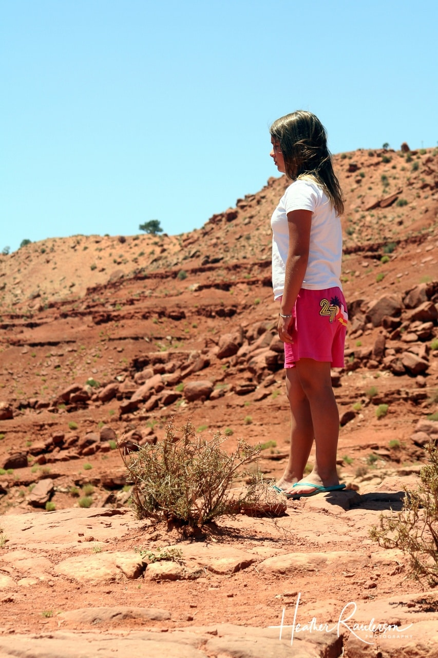Kayla looking out into Monument Valley