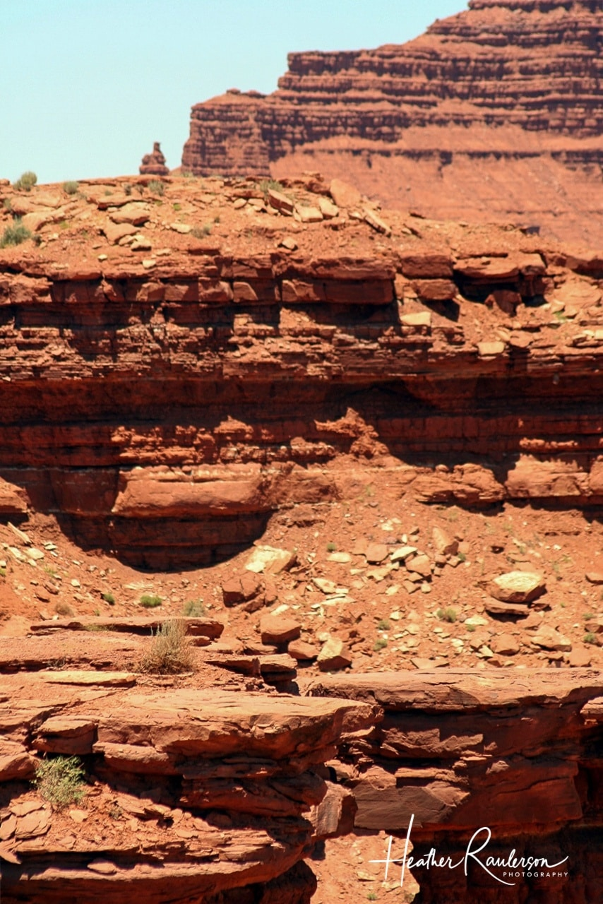 Layers of sandstone in Monument Valley
