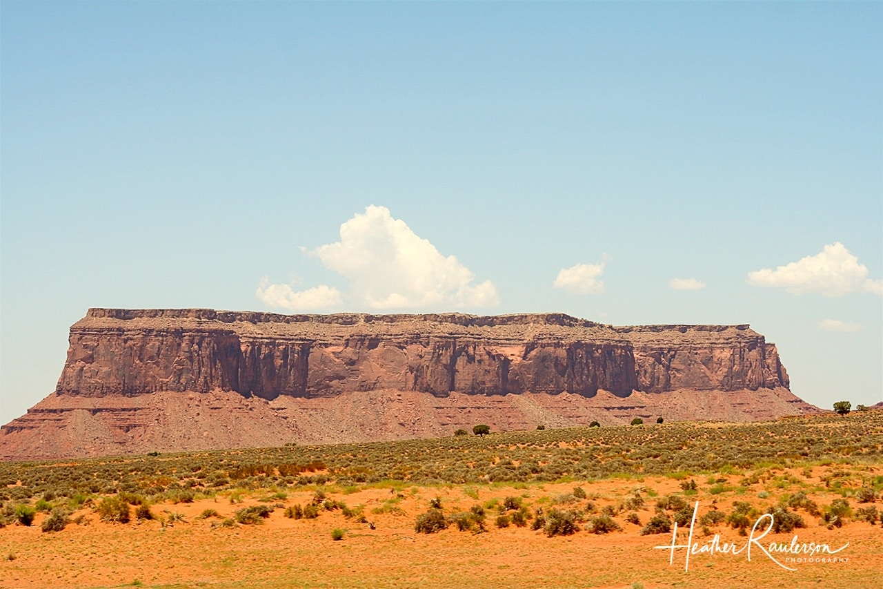 Long Rock Mesa in Monument Valley