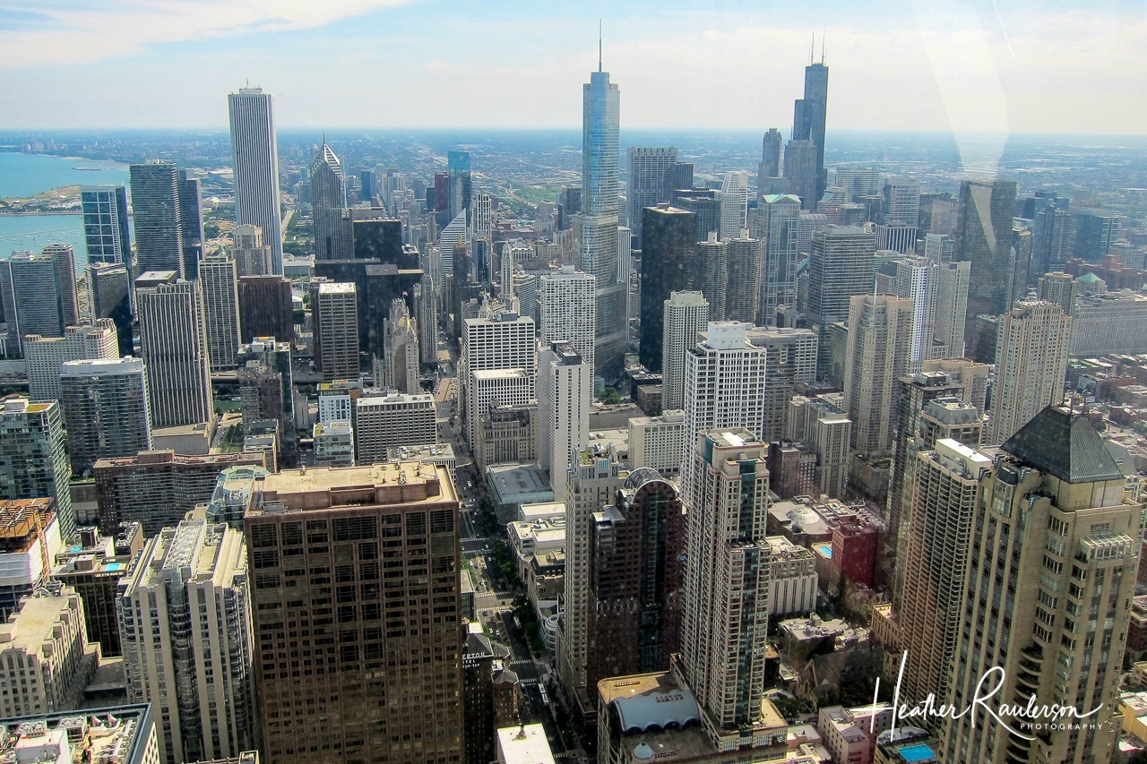 Aerial view of Chicago from the Hancock Building