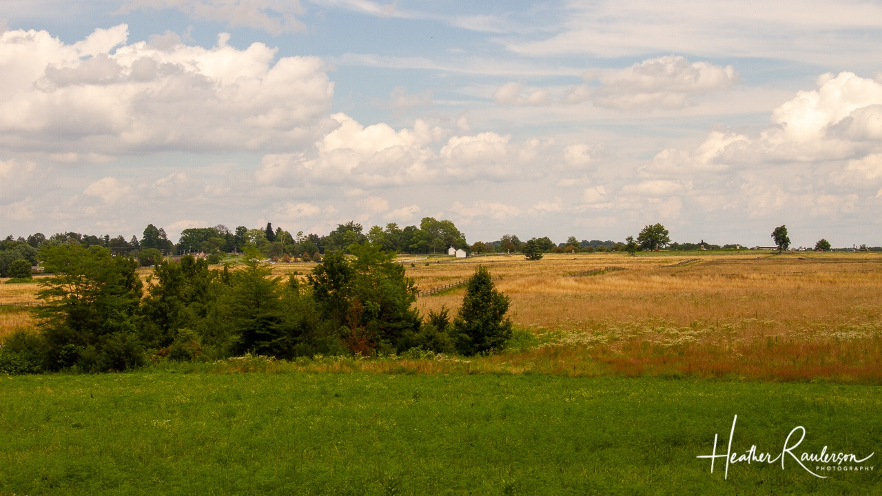 View of Cemetery Ridge at Gettysburg National Military Park