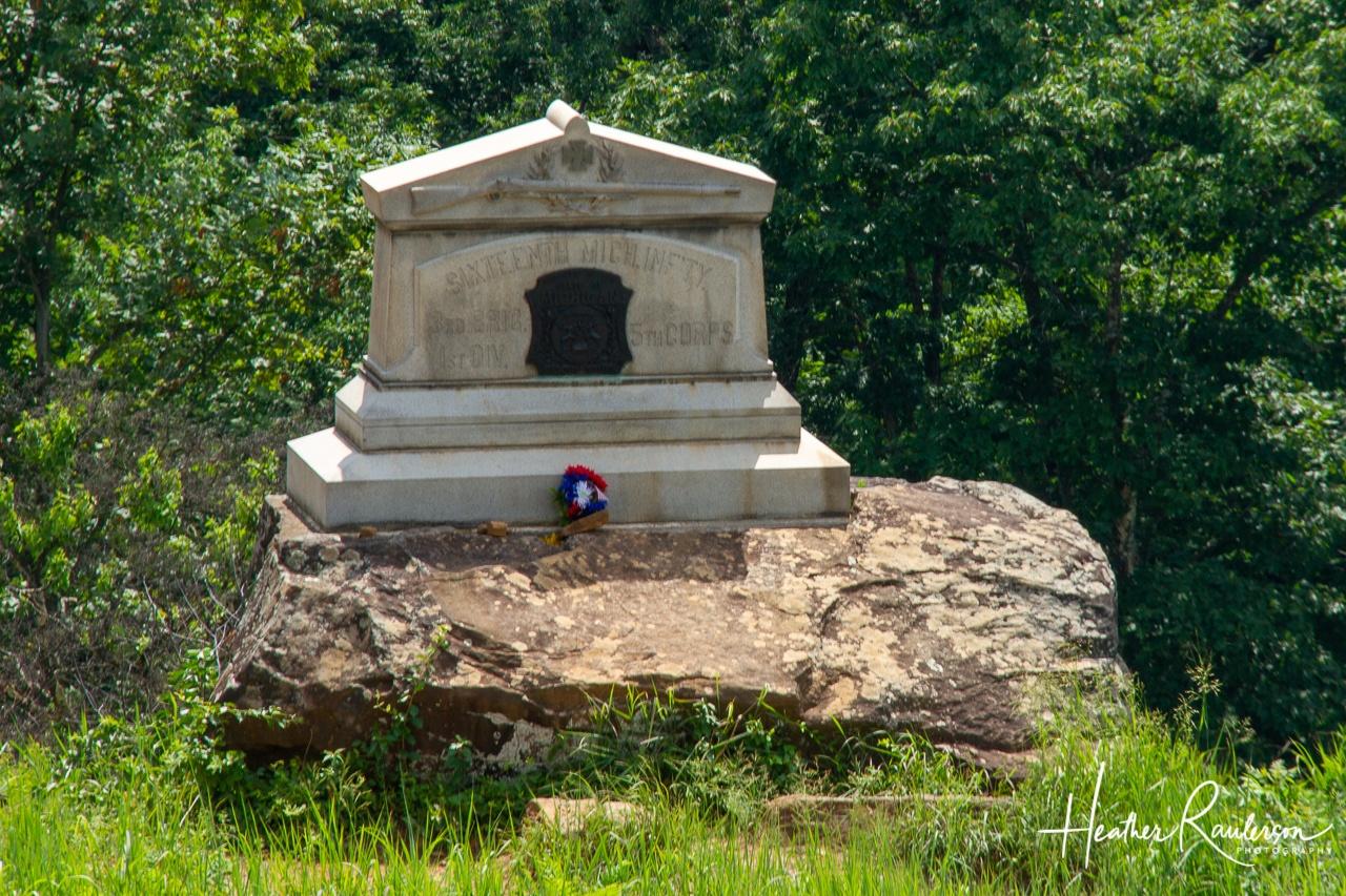16th Michigan Volunteer Infantry Regiment Monument on Little Round Top at Gettysburg