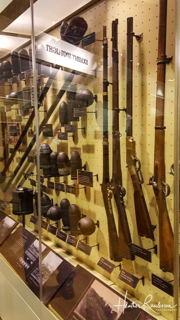 Artillery Projectiles and Long Arm Fire Arms in the Gettysburg Museum