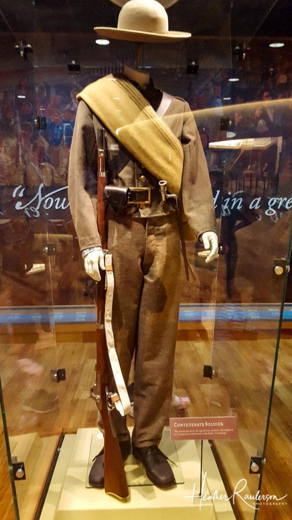Confederate Soldier Uniform at Gettysburg