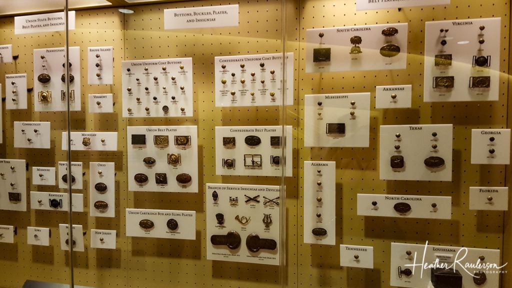 Buttons, Buckles, Plates, and Insignia for Civil War Uniforms at Gettysburg Museum