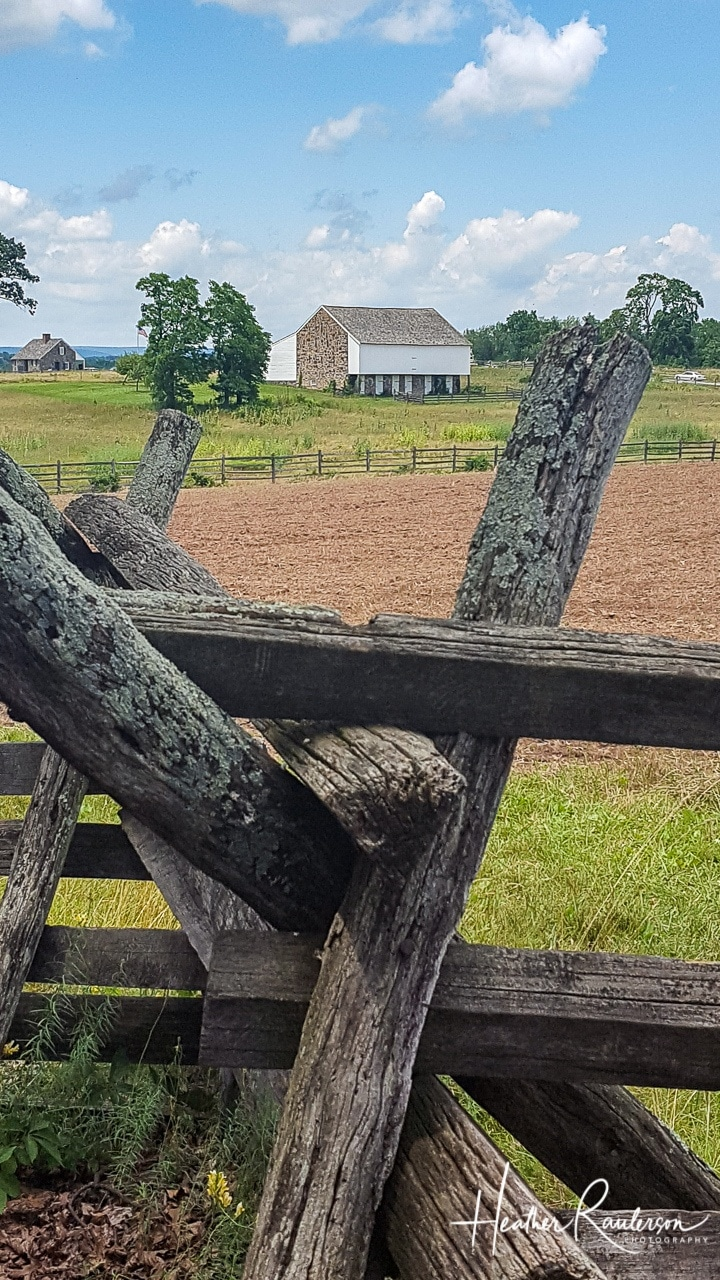 Wood Fence and McPherson Barn at Gettysburg