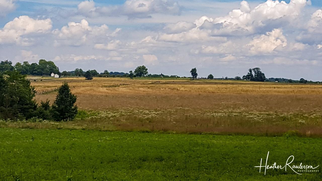 Farm fields at Gettysburg National Military Park