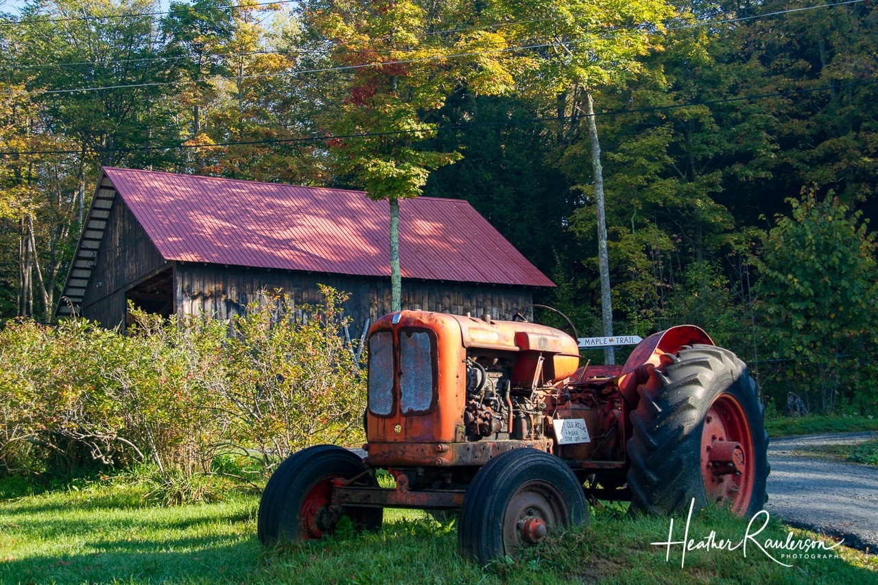 Old tractor at the Morse Farm Maple Sugarworks
