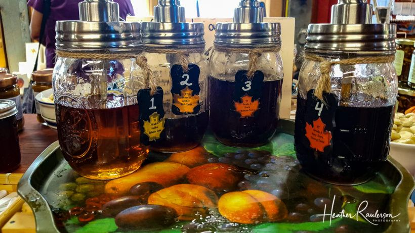 The four types of maple syrup