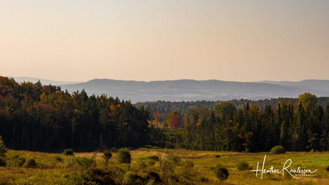 Vermont Landscape in the Fall Season
