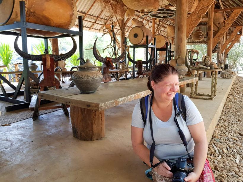 Heather at Black House in Chiang Rai, Thailand