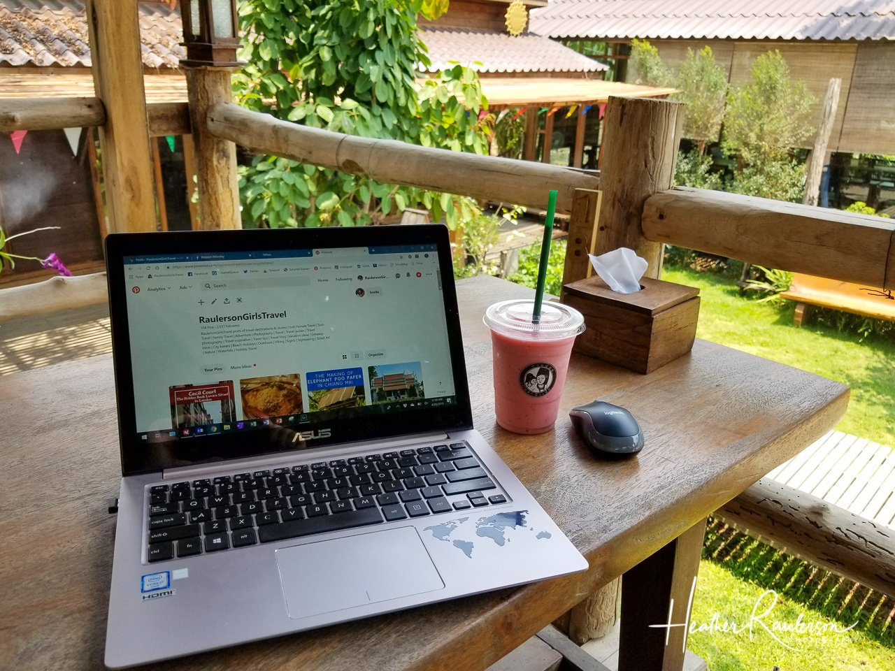 Working in a treehouse at Coffeemod in Chiang Mai