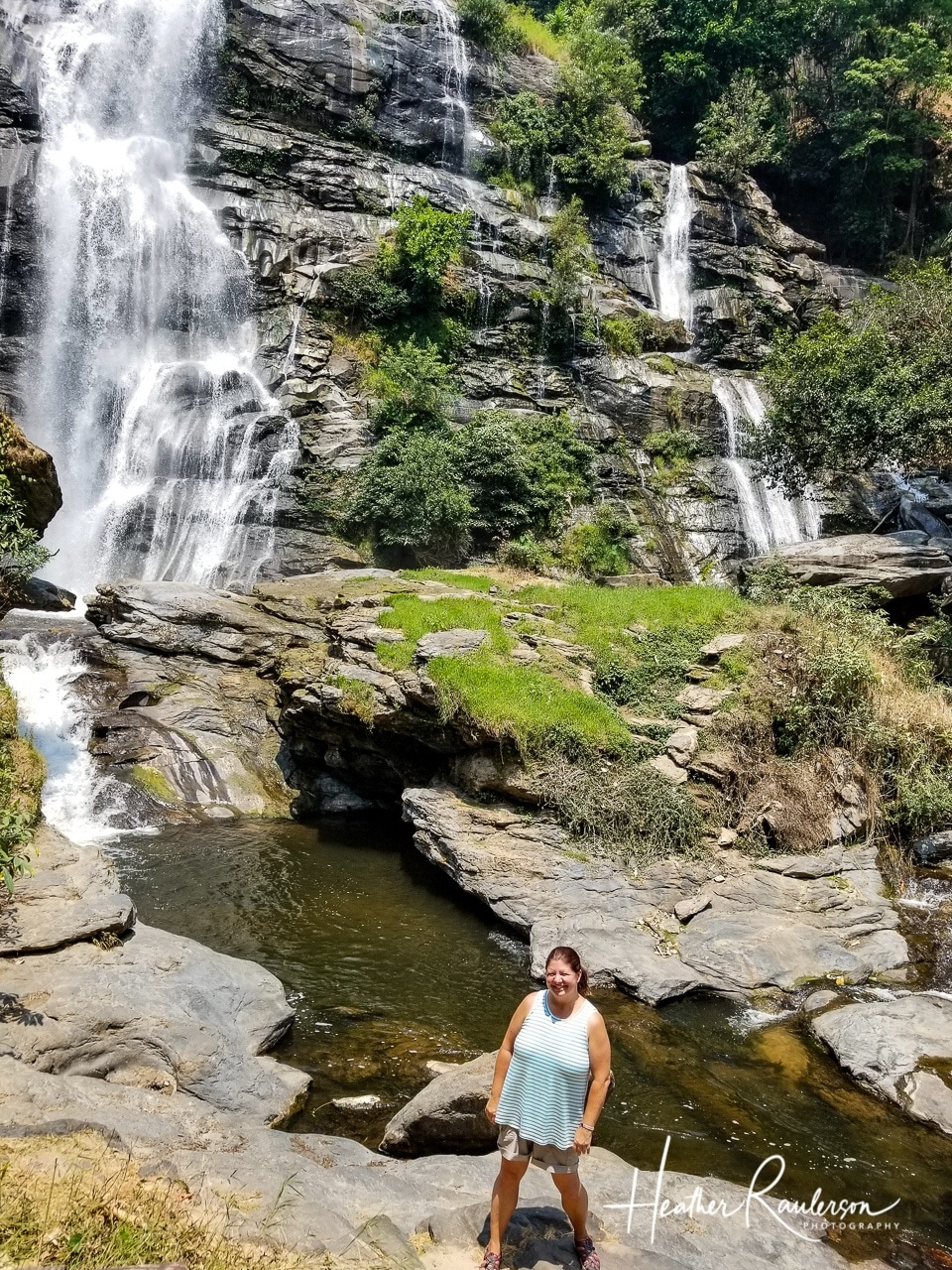 Heather at Doi Inthanon Falls in Chiang Mai, Thailand