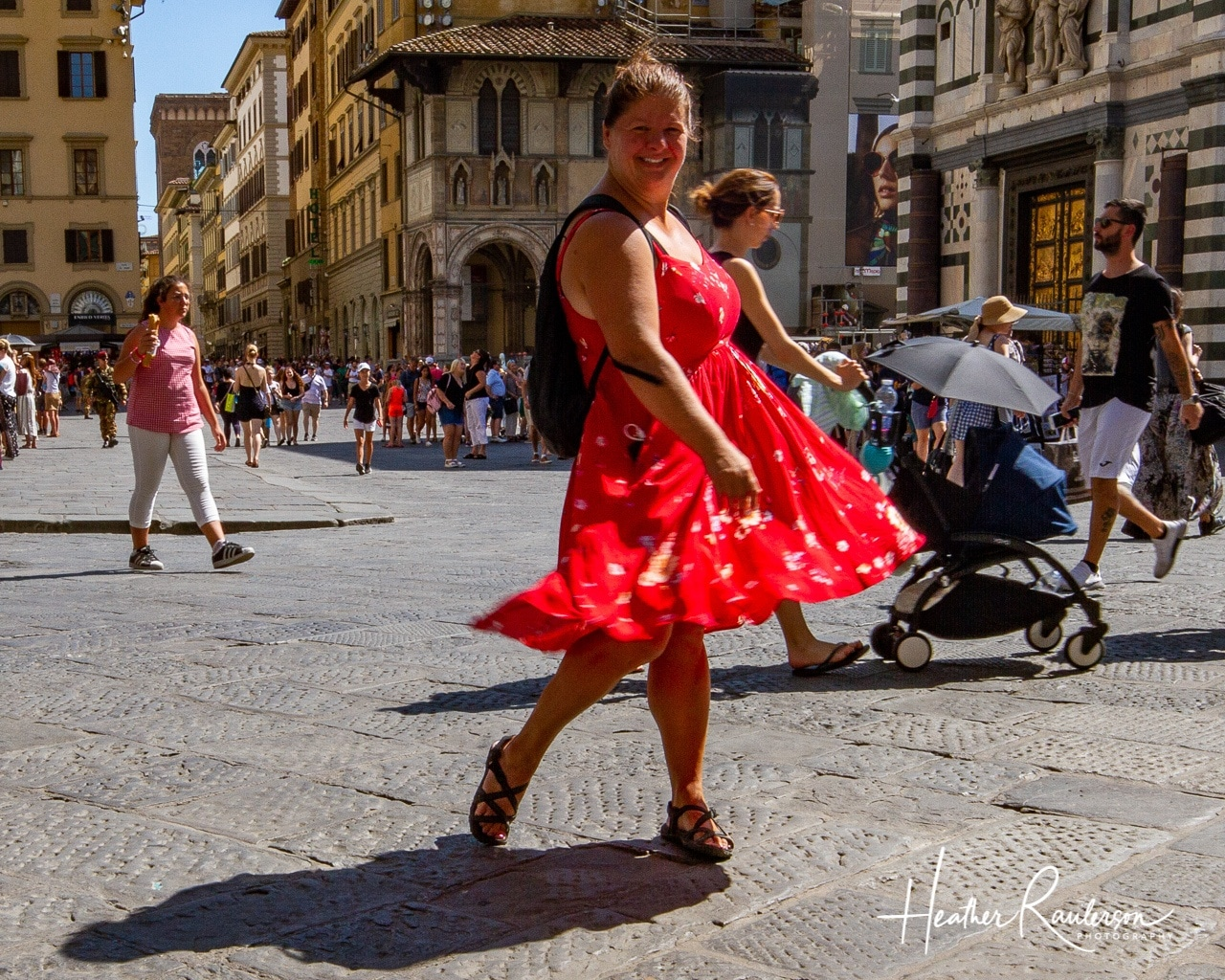 Heather in Florence, Italy