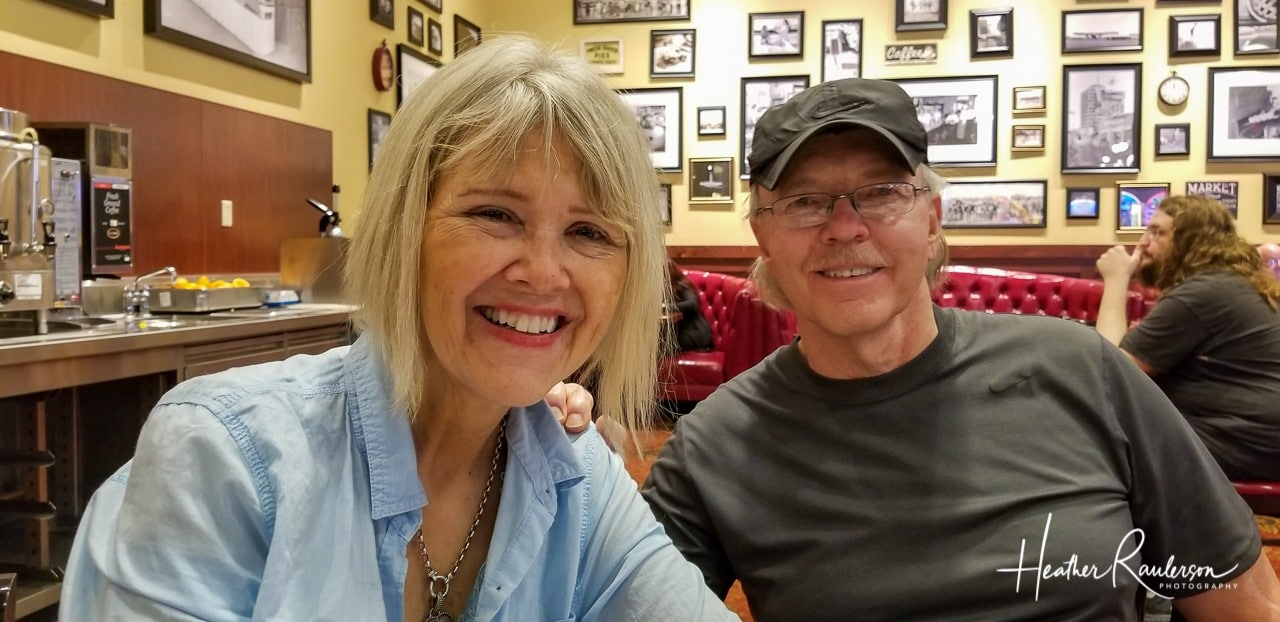 Having Lunch with new friends at Dupar's Restaurant and Bakery at the Suncoast Hotel and Casino in Las Vegas