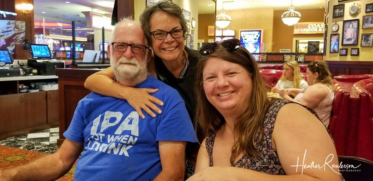 Heather, Janet and Ian at Du-par's