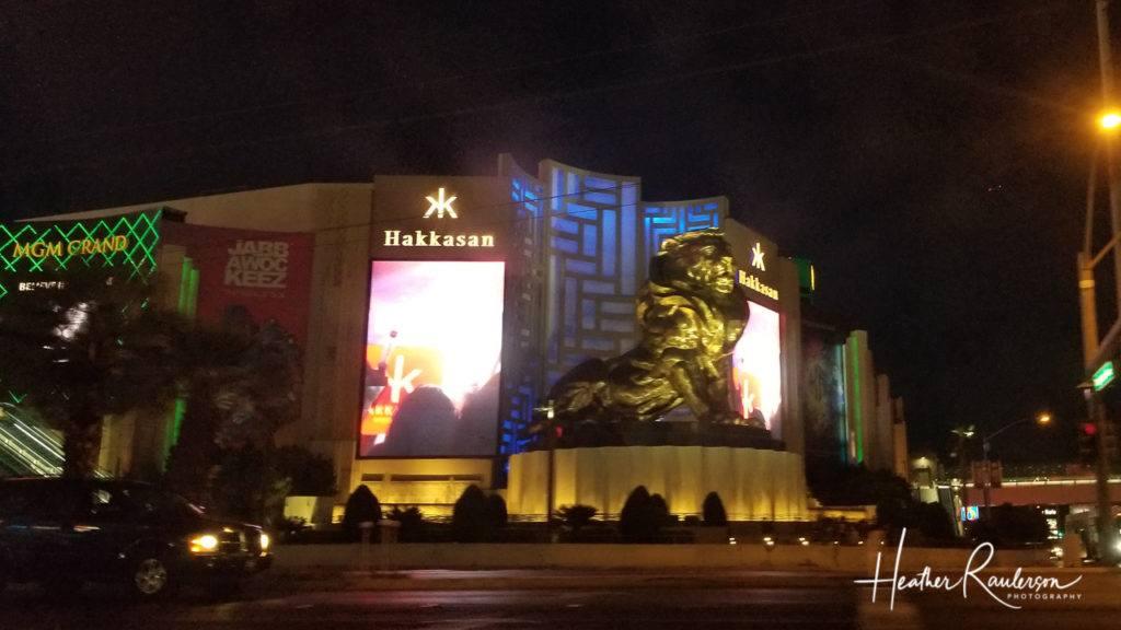 MGM Grand in Las Vegas lit at night