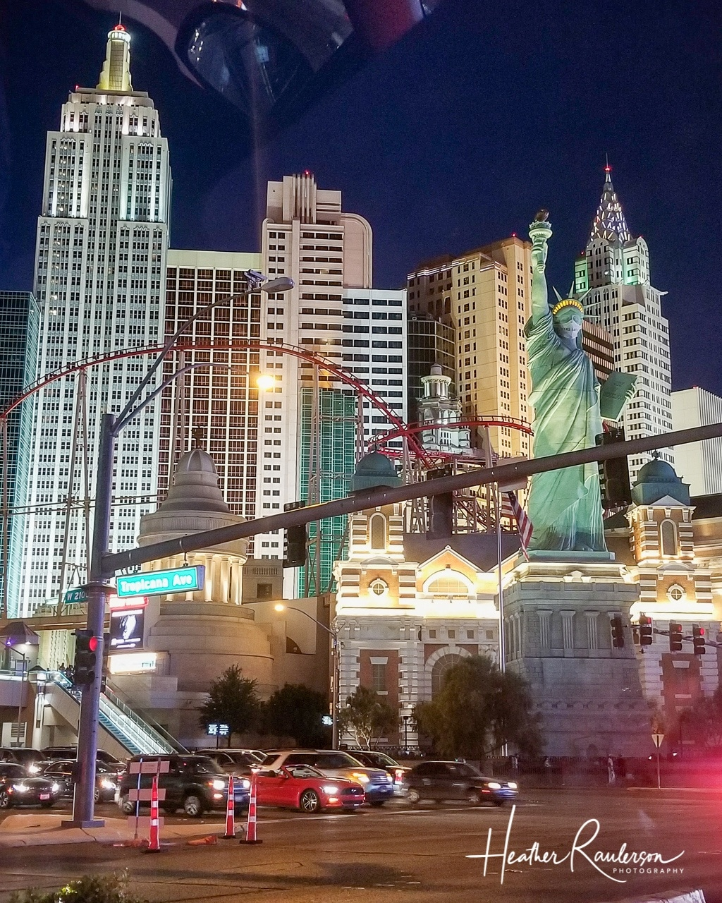 New York-New York Hotel & Casino in Las Vegas lit at night