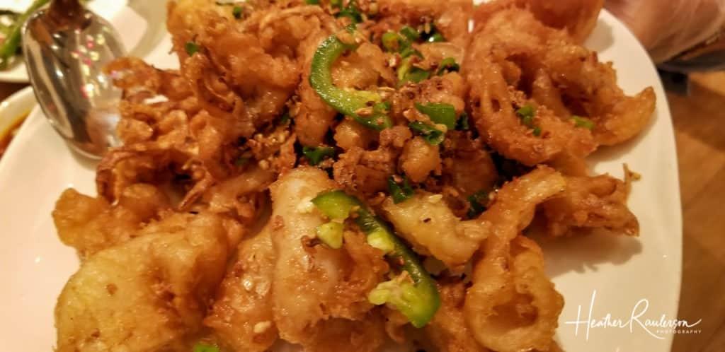 Calamari at Ping Pang Pong Restaurant