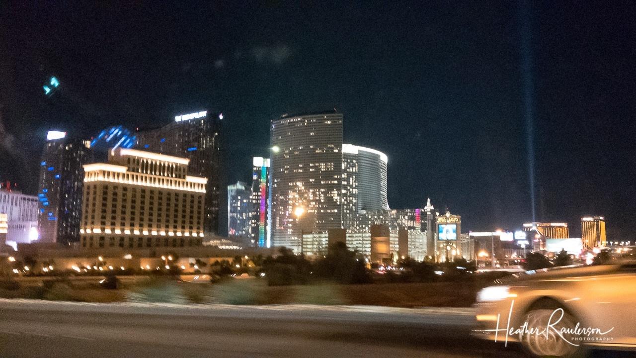 Back of Las Vegas Strip at night