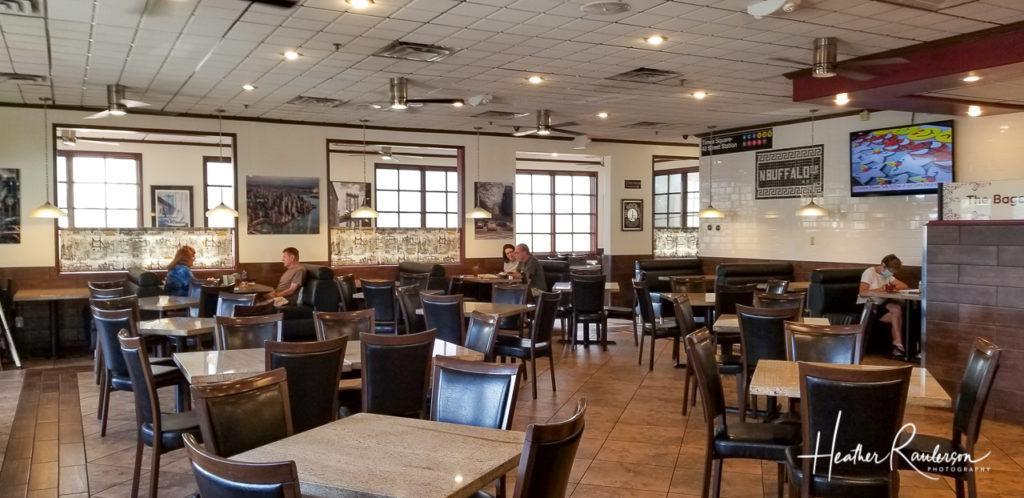 Sitting Area Inside the Bagel Cafe in Las Vegas