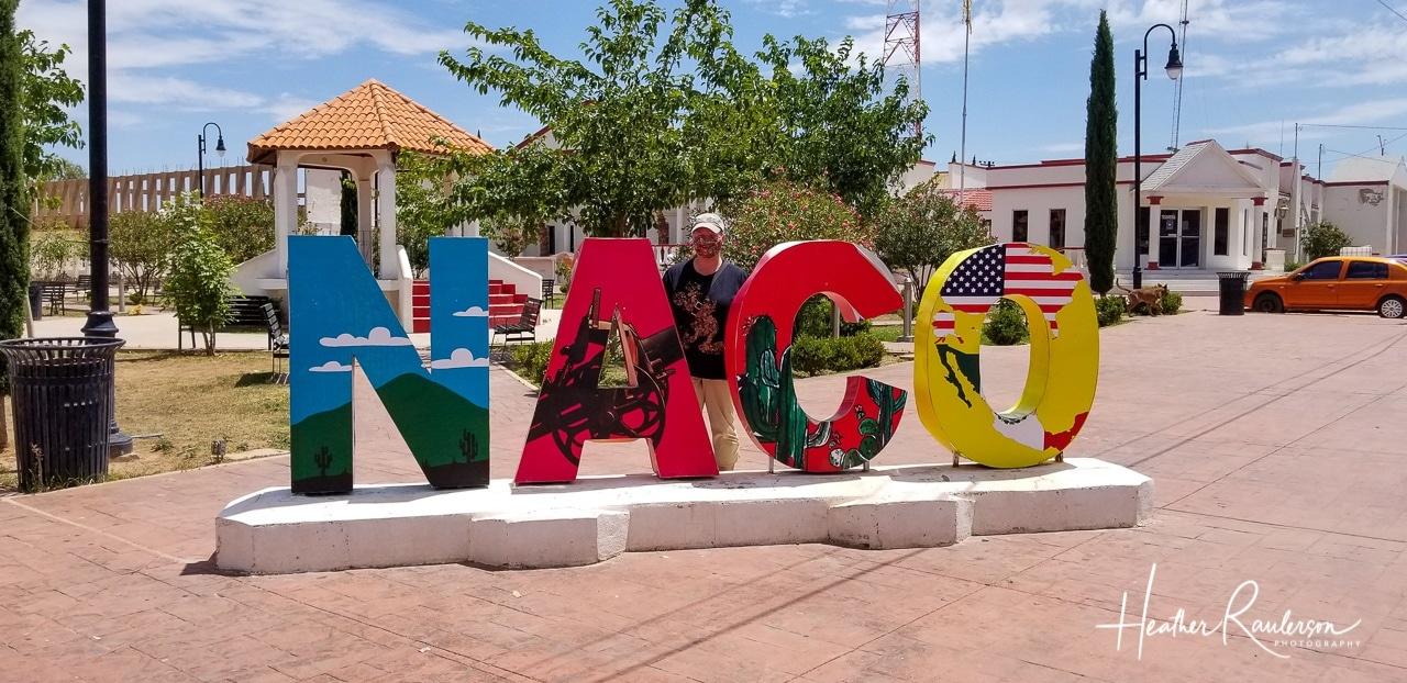 Heather in Naco, Mexico