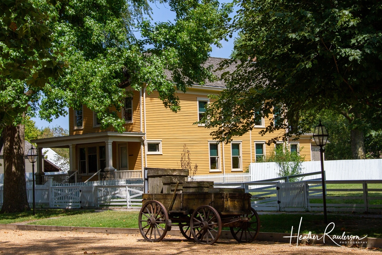 Wagon on Eighth Street in Lincoln Home National Historic Site