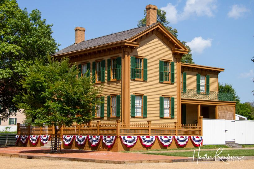 Corner view of the Lincoln House