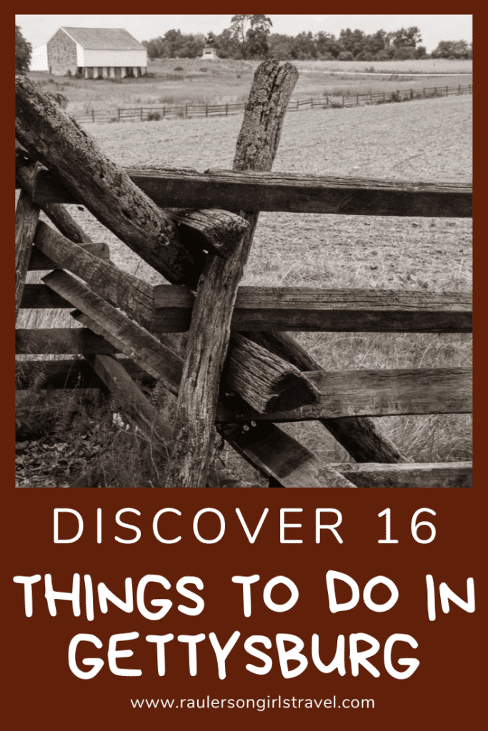 Things to do in Gettysburg Pinterest Pin