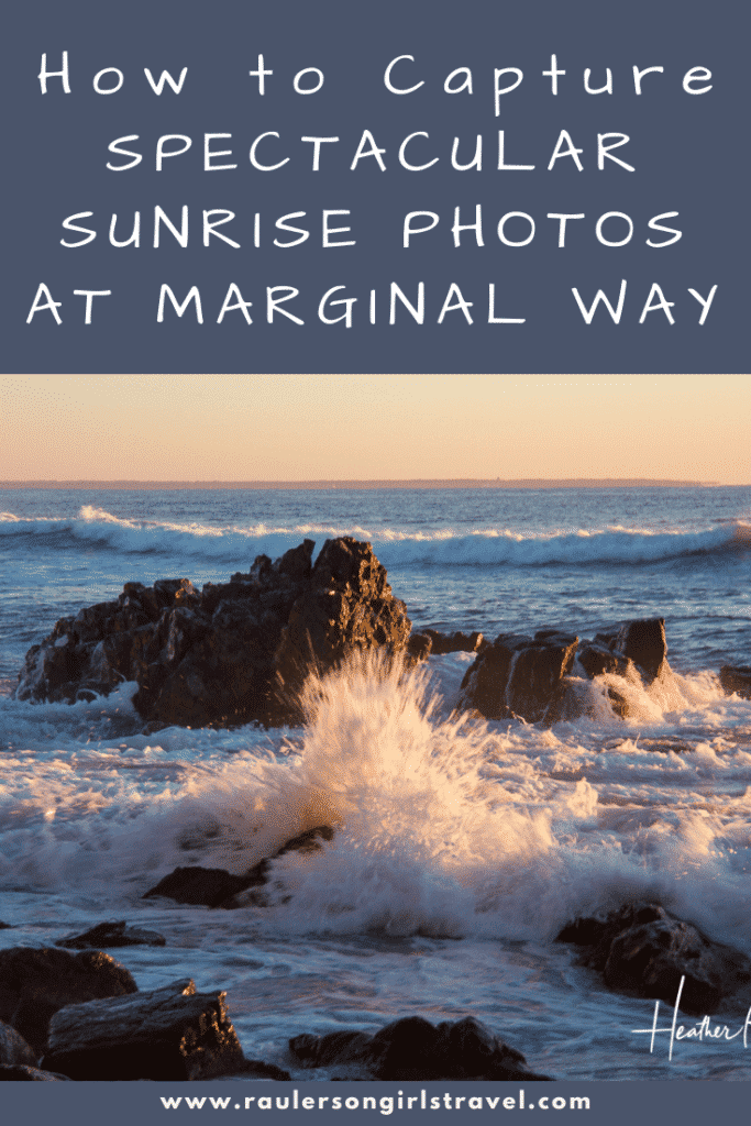 Sunrise Photos at Marginal Way Pinterest Pin