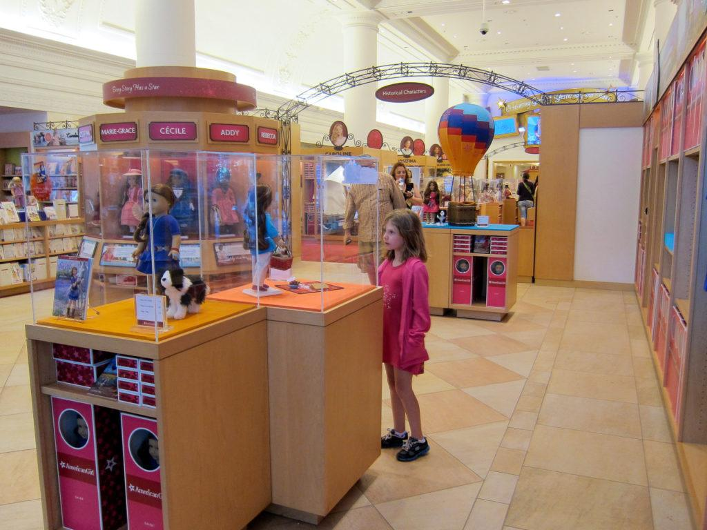 Madison at the American Girl Store