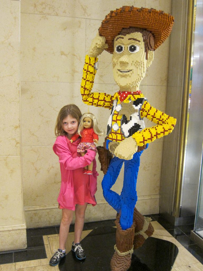 Madison at the Lego Store