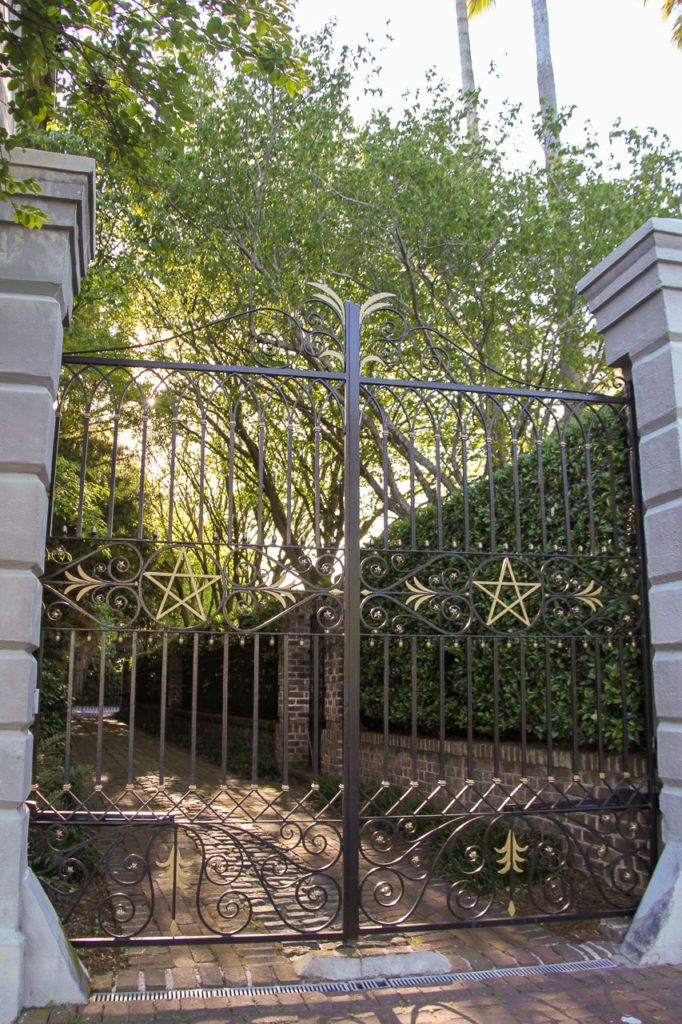 Iron Gate with Stars in Charleston