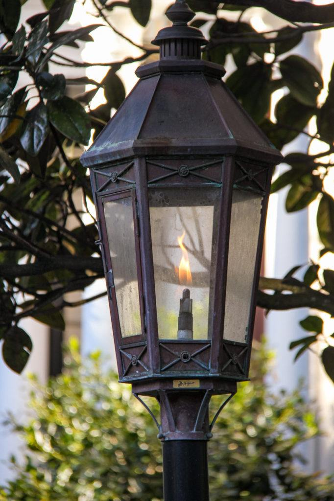 Gas lamp in Charleston