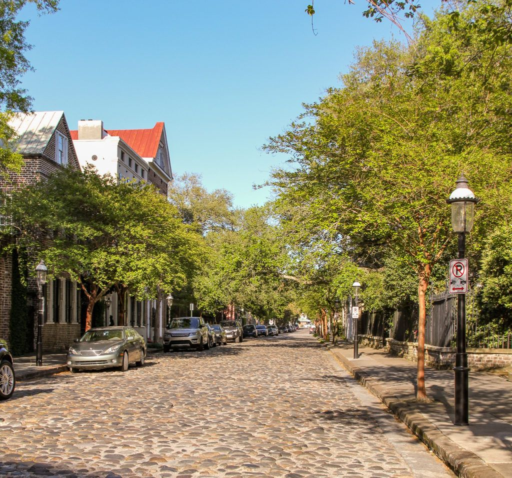 Cobbled Street in Charleston