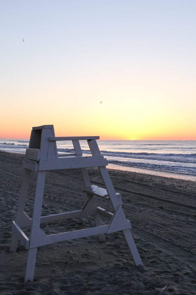 Lifeguard Chair at Myrtle Beach at Sunrise
