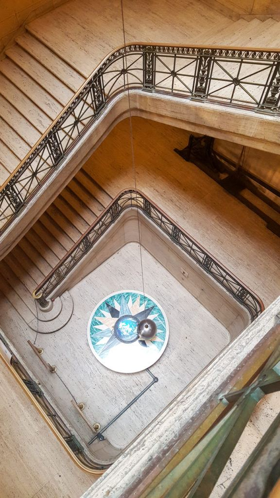 Beautiful stairway and pendulum at the Franklin Institute