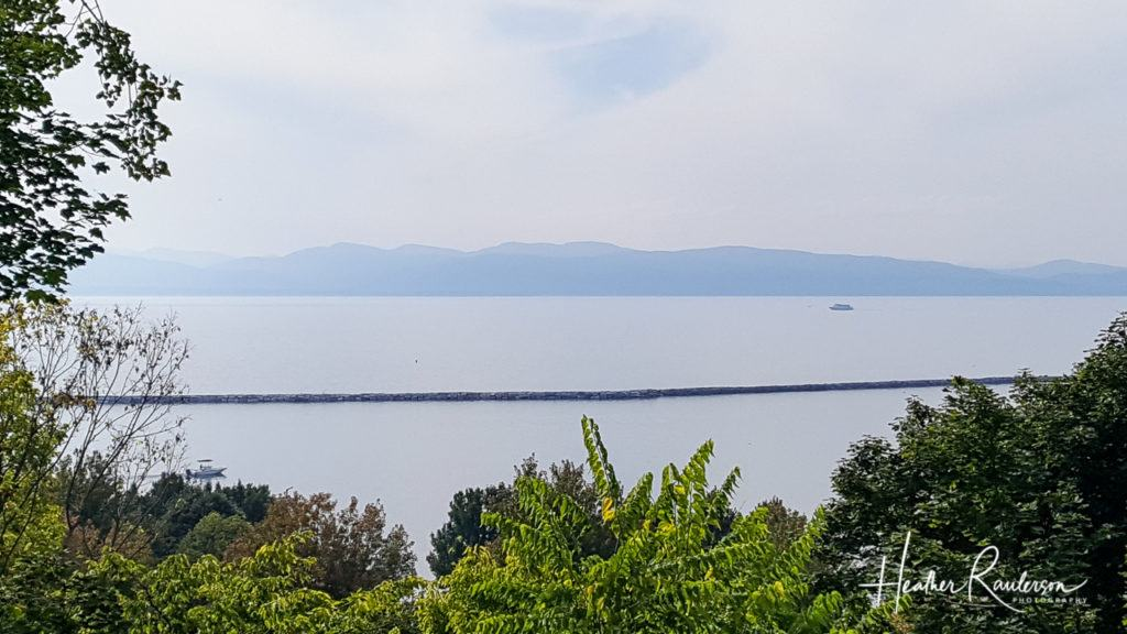 View of Lake Champlain from Burlington, Vermont