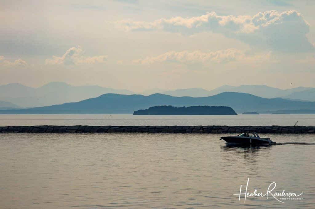 Boat on Lake Champlain, Vermont