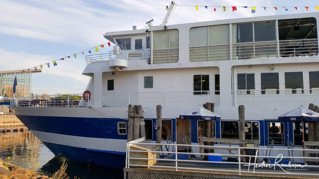 Spirit of Ethan Allen ship on Lake Champlain