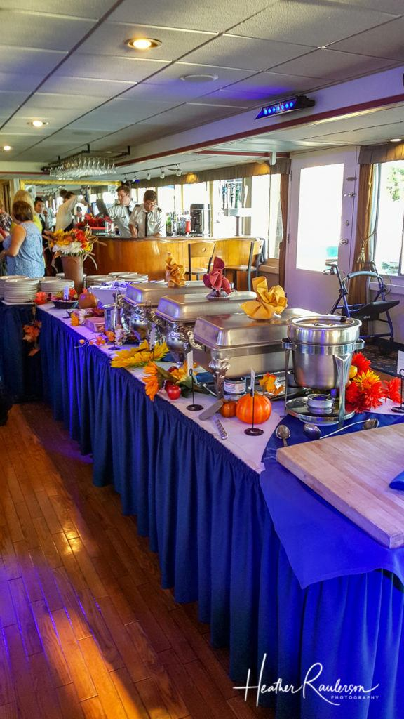 Buffet Table on the Spirit of Ethan Allen