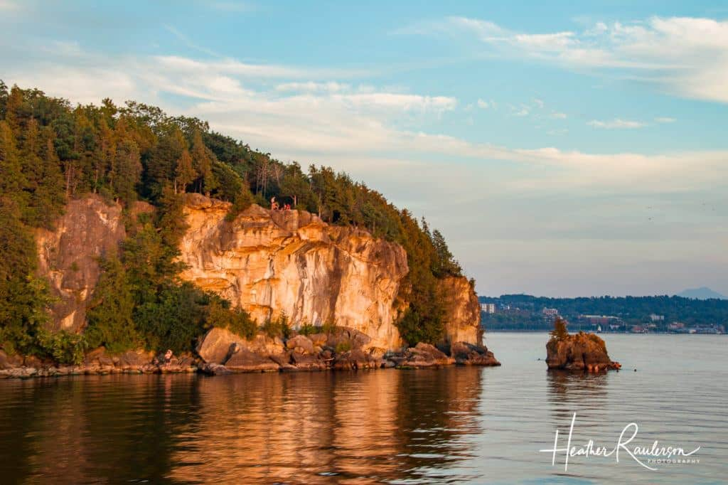 Landscape around Lake Champlain at Sunset