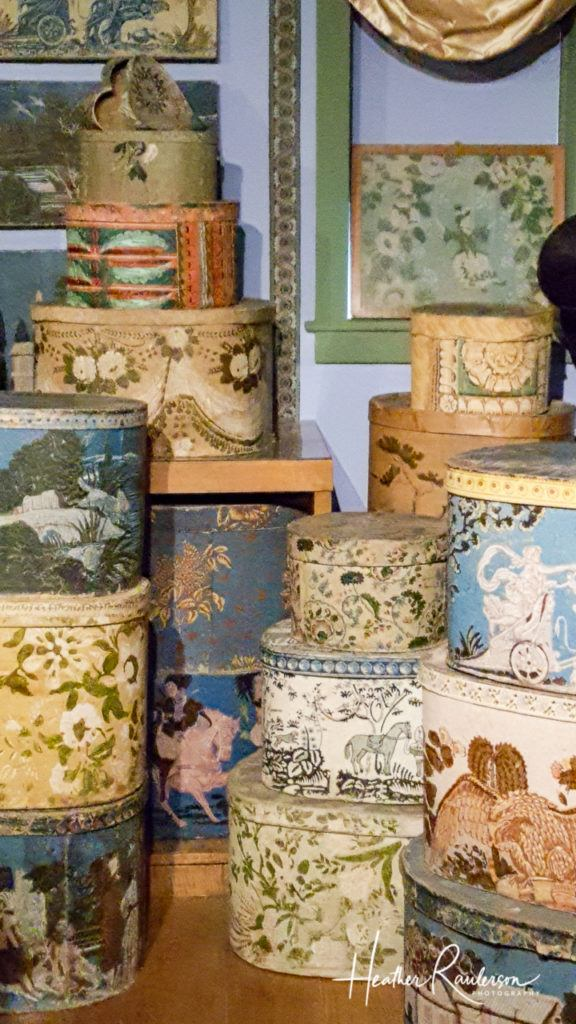 Bandboxes and Hatboxes in the Hat and Fragrance Textile Gallery